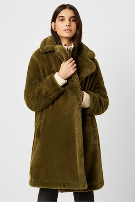 French Connection Buona Faux Fur Long Coat