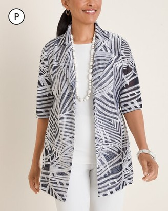 Travelers Collection Petite Printed Strip Jacket