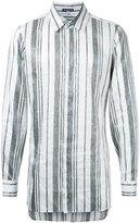 Ann Demeulemeester rear fastening stripe shirt - men - Polyester/Rayon - XS
