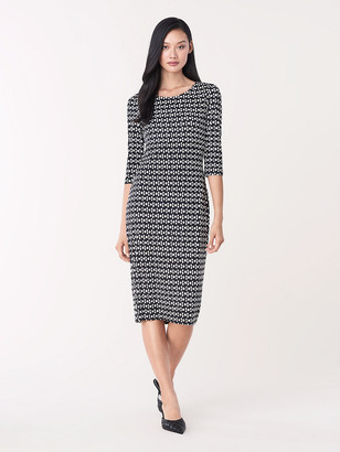 Diane von Furstenberg Saihana Silk-Jersey Sheath Dress