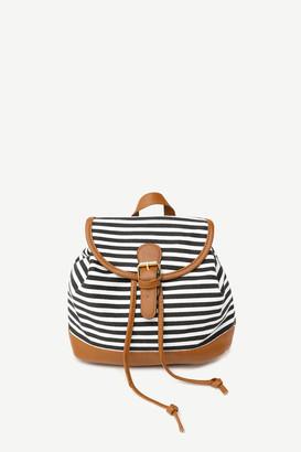 Ardene Small Striped Drawstring Backpack