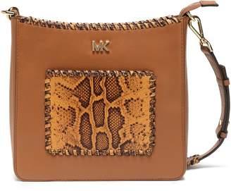 MICHAEL Michael Kors Snake Effect-paneled Leather Shoulder Bag