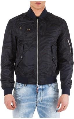 Valentino Animal Print Bomber Jacket