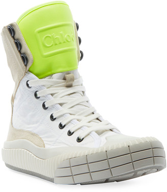 Chloé Clint Chunky High-Top Sneakers