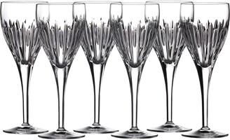 Waterford Mara Set of 6 Lead Crystal Wine Glasses