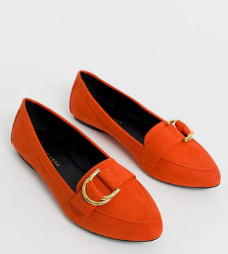 New Look Wide Fit loafer in orange-Red