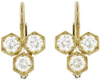 Cathy Waterman Triple Hexagonal Diamond Earrings