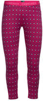 Icebreaker Children's Oasis Align Legging - Pop Pink/Snow/White Baselayers
