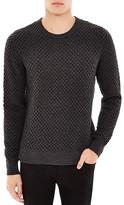 Sandro Electra Honeycomb Heathered Sweater