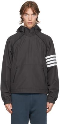 Thom Browne Black Double Zip 4-Bar Anorak Jacket