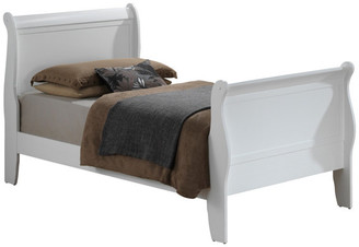 Glory Furniture Hollister Bed, White, Twin