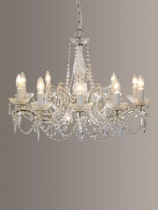 Impex Marie Theresa Chandelier, 10 Arm, Crystal
