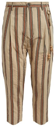 Song For The Mute Stripe Tassle Detail Trousers