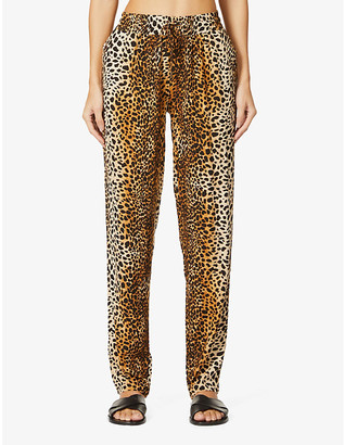 Melissa Odabash Jude leopard-print tapered high-rise woven trousers