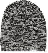 Portolano Marled Knit Beanie Hat, Black/Latte