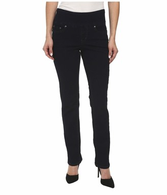 Jag Jeans Women's Petite Peri Pull On Straight Leg Jean