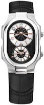 Philip Stein Teslar Men's Stainless Steel Embossed Leather Quartz Watch