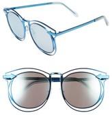 Karen Walker Women's 'Simone' 54Mm Retro Sunglasses - Navy