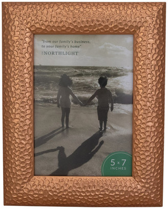 """Northlight 9.5"""" Contemporary Rectangular 5""""x7"""" Photo Picture Frame, Brown"""