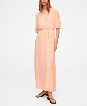 MANGO Women's Flowy Long Dress