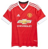 adidas Boy's 'Manchester United' Climacool Home Soccer Jersey