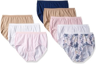 Just My Size Women's 8-Pack Cotton Brief Panty