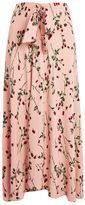 Topshop Rose bud asymmetric midi skirt