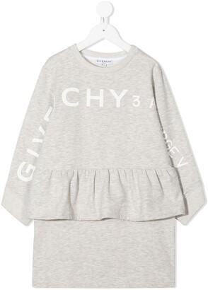 Givenchy Kids Logo Peplum Jumper Dress