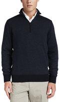 Loro Piana Roadster Half-Zip Cashmere Sweater, Navy