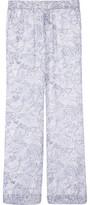 Joie Elandra Printed Silk-Chiffon Wide-Leg Pants