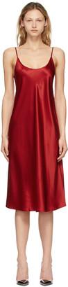 La Perla Red Silk Slip Dress