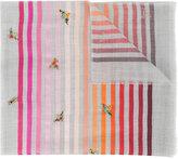 Janavi beaded stripe scarf