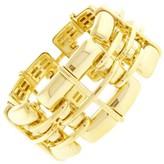 Tiffany & Co. 18K Yellow Gold Wide Square Windowpane Bracelet