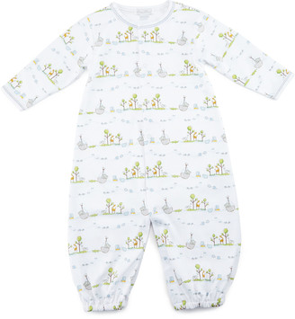 Kissy Kissy Noah's Ark Printed Convertible Sleep Gown, Size Newborn-Small