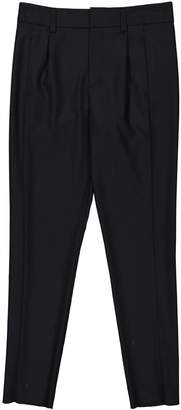 Anthony Vaccarello Black Wool Trousers