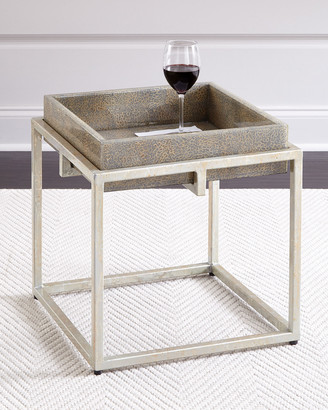 Jamie Young Alegra Side Table with Removable Tray, Gray