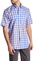David Donahue Short Sleeve Woven Pattern Regular Fit Shirt