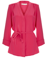 Goat Brittany Hot Pink Belted Silk-Crepe Shirt