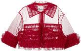 Comme des Garcons cropped frilled jacket