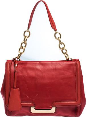 Diane von Furstenberg Red Leather New Harper Satchel