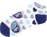 For Bare Feet Women's Sporting Kansas City Heart Logo Repeat Socks
