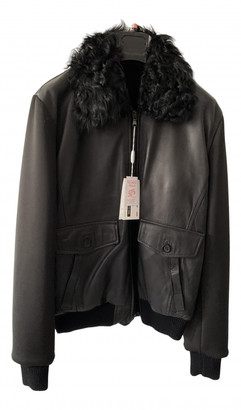 C.b. Made In Italy Black Leather Jackets