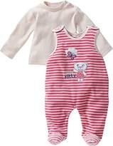 Schnizler Unisex Baby Nicki, Cute Kitty, 2-tlg. Set, Langarmshirt Onesie - pink - 62