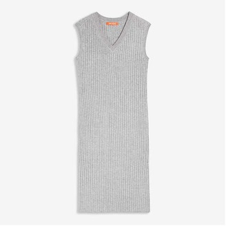 Joe Fresh Women's V-Neck Sweater Dress, Grey Mix (Size L)