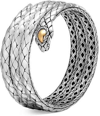John Hardy 18K Yellow Gold and Sterling Silver Legends Cobra Triple Coil Bracelet