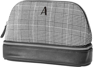 Cathy's Concepts Black Personalized Glen Plaid Travel Organizer - MULTIPLE LETTERS AVAILABLE