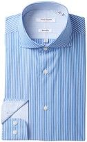 Isaac Mizrahi Multi Stripe Slim Fit Dress Shirt