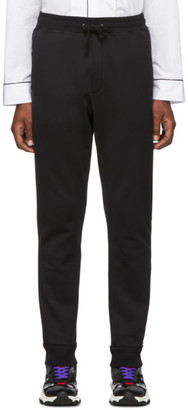 Valentino Black Rockstud Untitled Lounge Pants