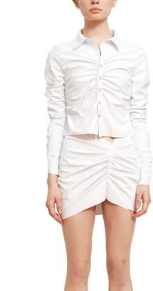 Maisie Wilen Rubber Collared Shirt
