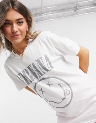 Daisy Street relaxed t-shirt with Nirvana print